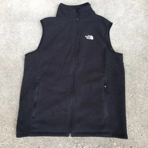 North Face Men's Gray Fleece Vest Large